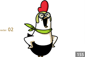 illustman-129_Chicken character